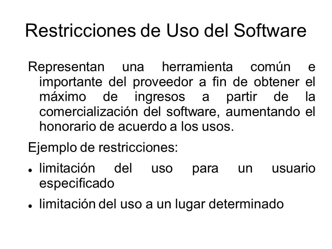 Restricciones de Uso del Software