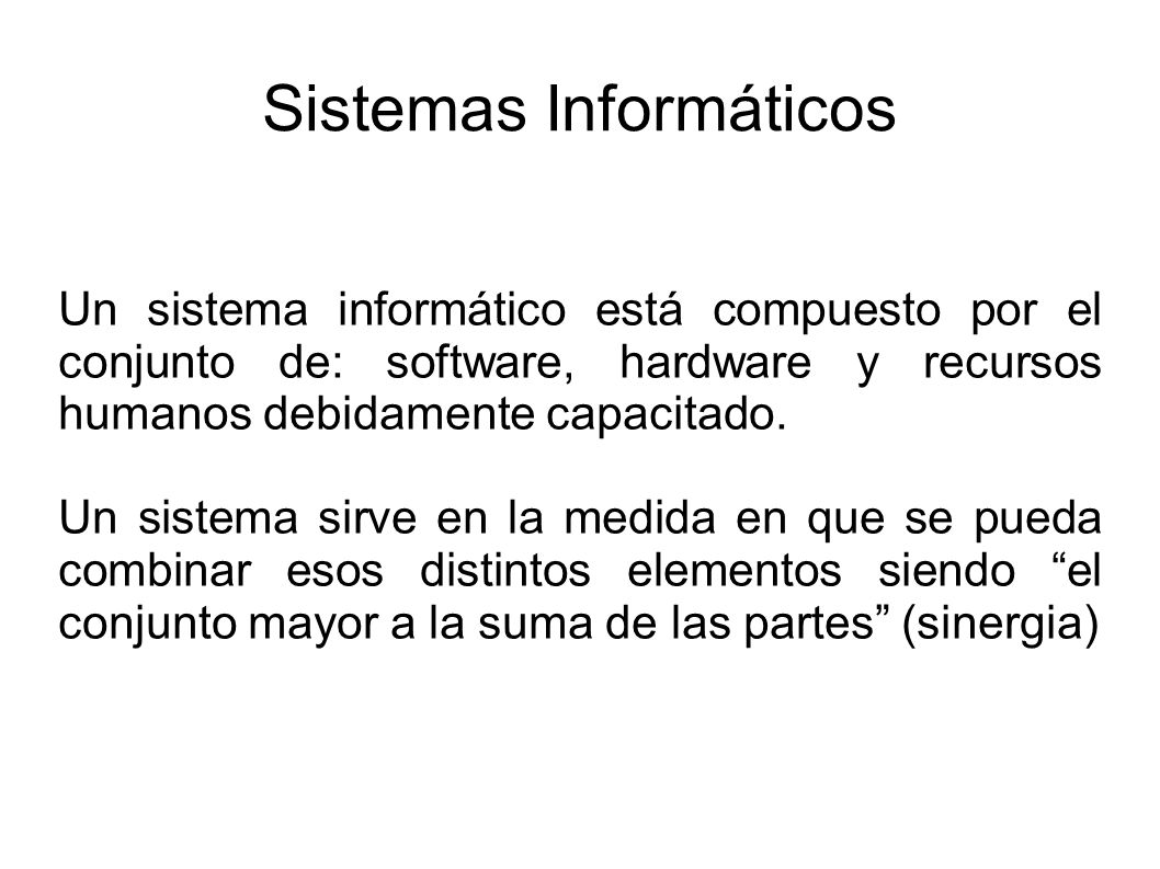 Sistemas Informáticos