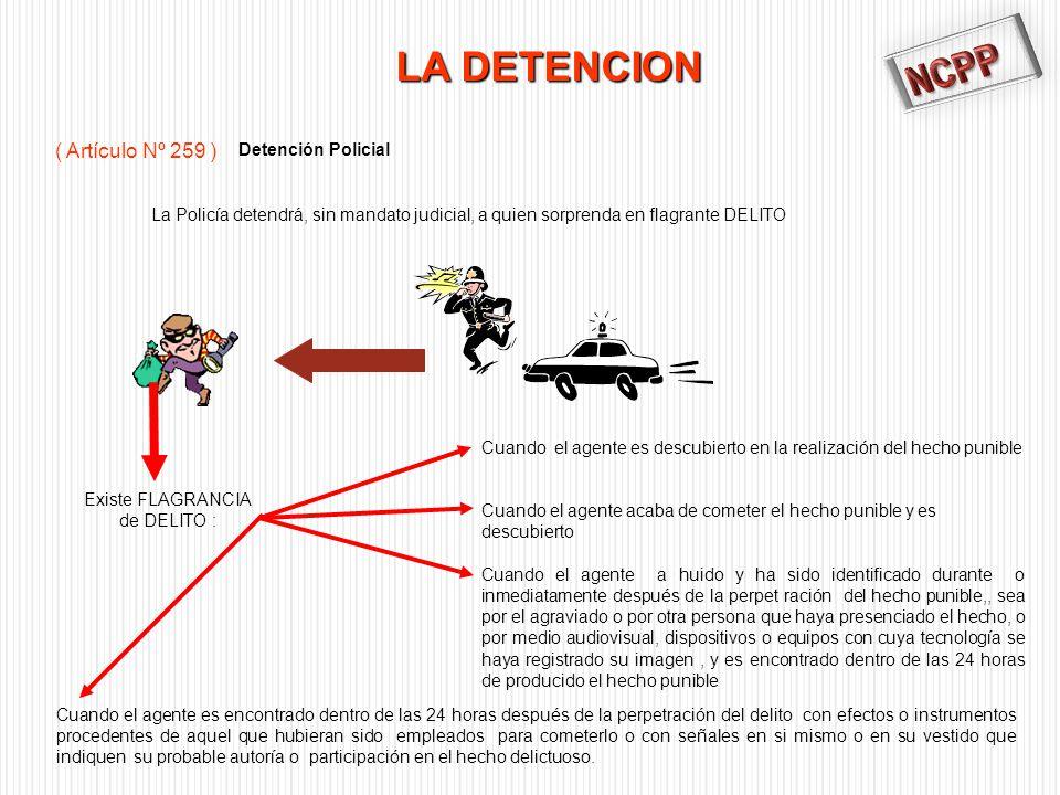 NCPP LA DETENCION ( Artículo Nº 259 ) Detención Policial