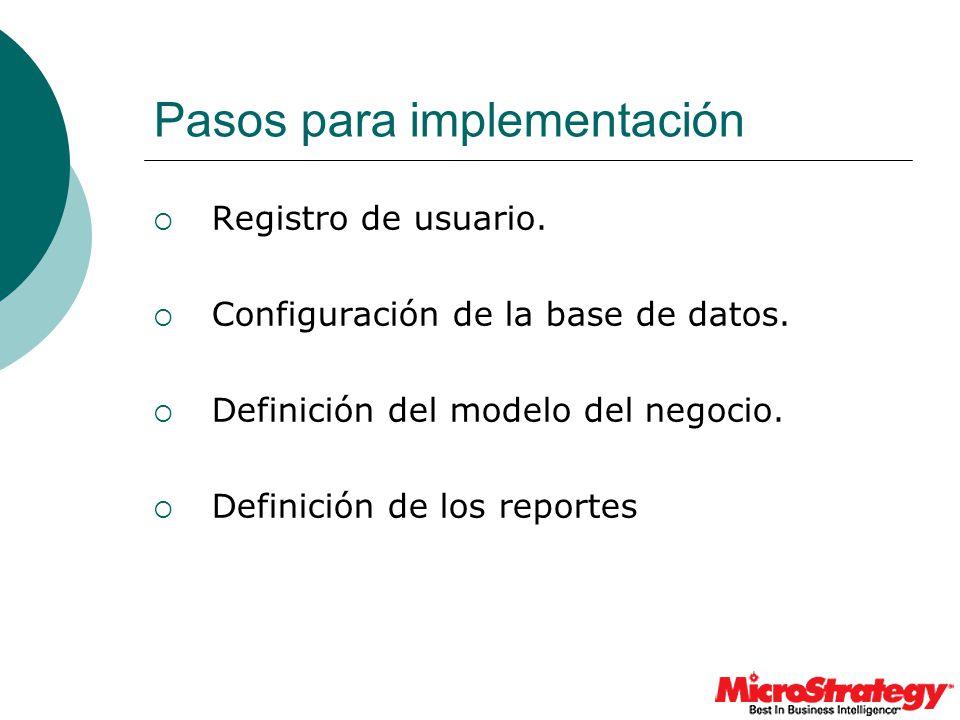 Pasos para implementación