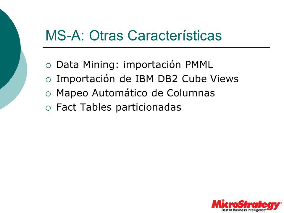 MS-A: Otras Características