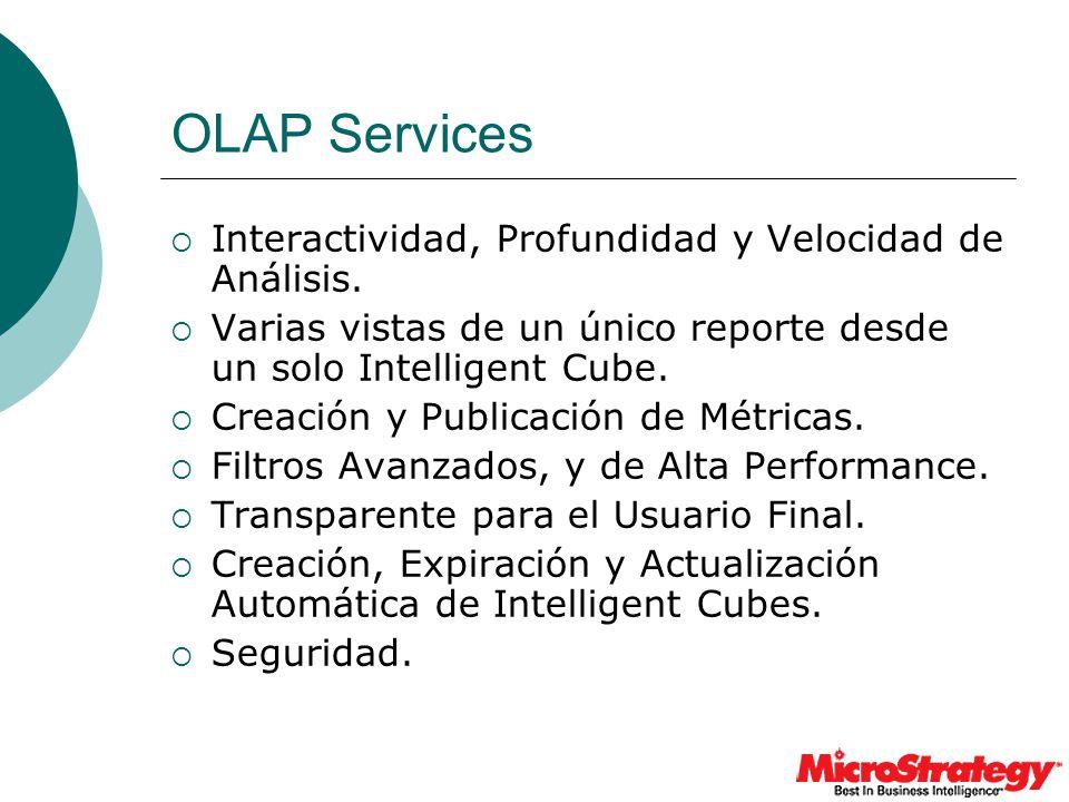 OLAP Services Interactividad, Profundidad y Velocidad de Análisis.