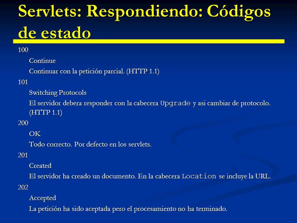 Servlets: Respondiendo: Códigos de estado