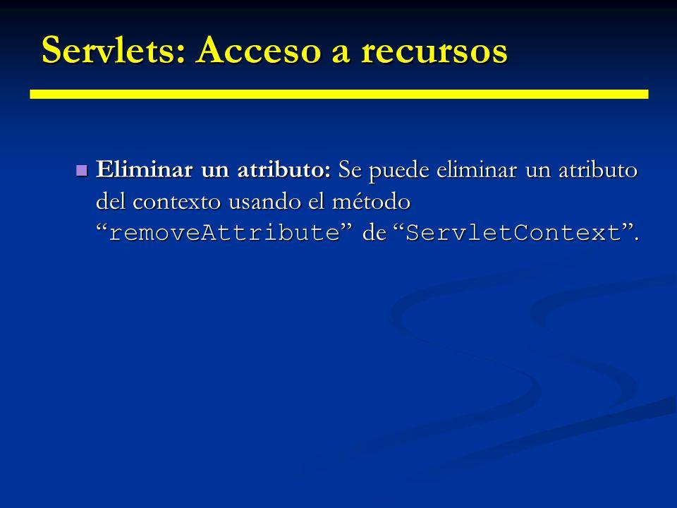 Servlets: Acceso a recursos