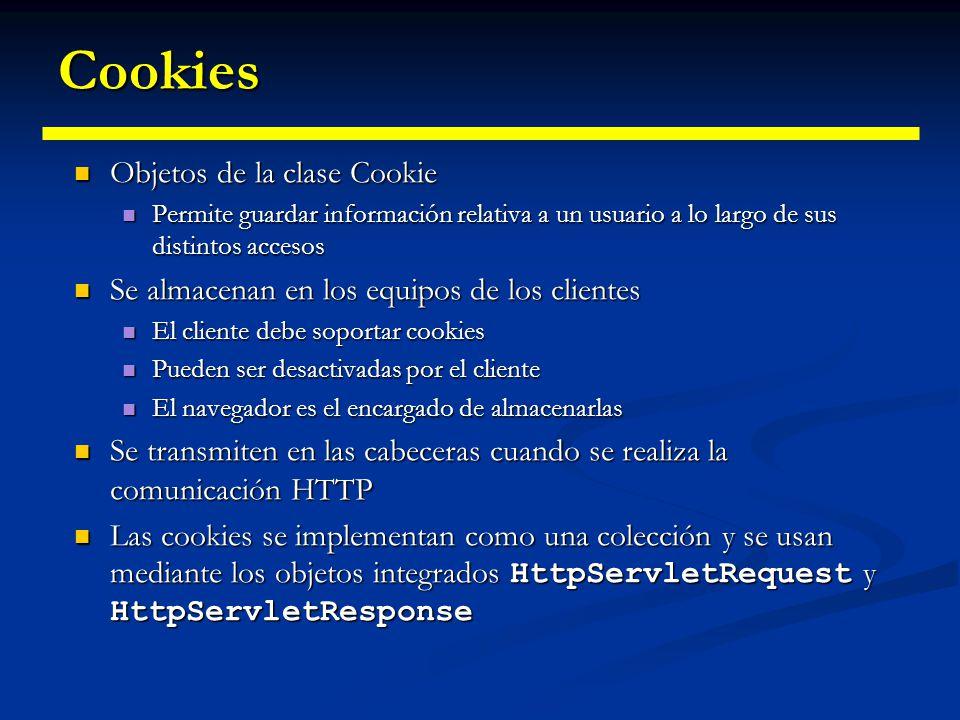 Cookies Objetos de la clase Cookie
