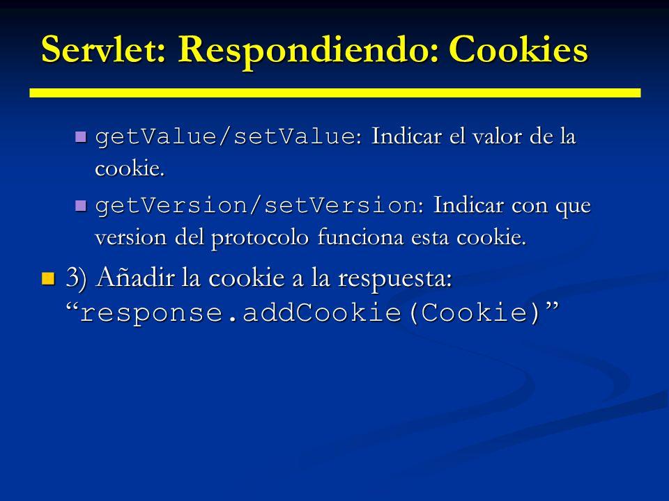 Servlet: Respondiendo: Cookies