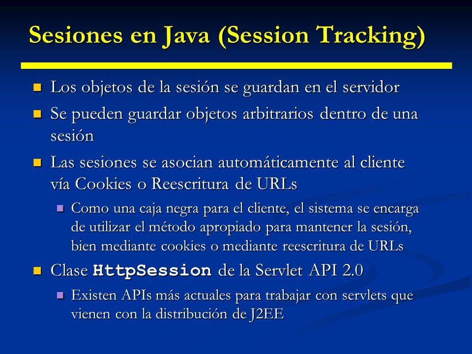 Sesiones en Java (Session Tracking)