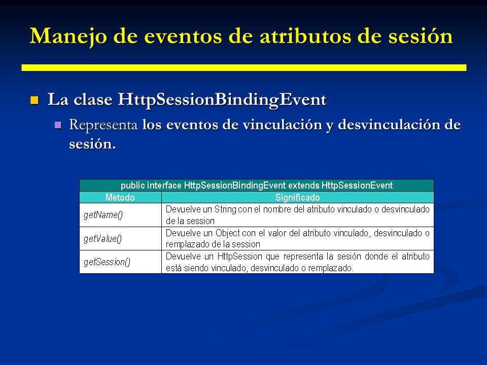 Manejo de eventos de atributos de sesión