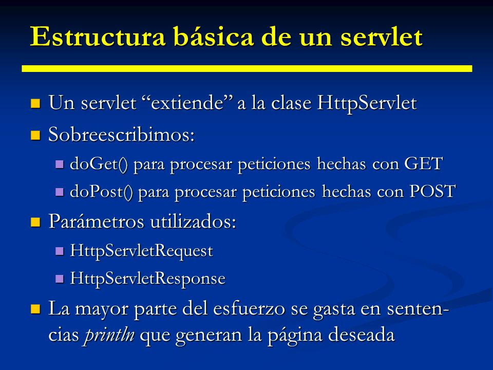 Estructura básica de un servlet