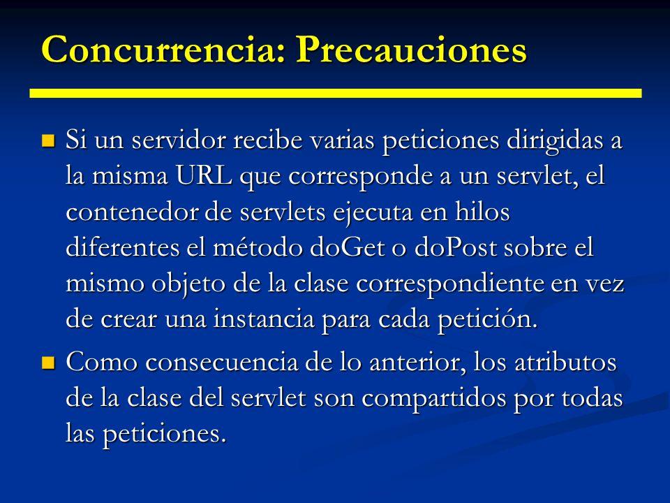 Concurrencia: Precauciones