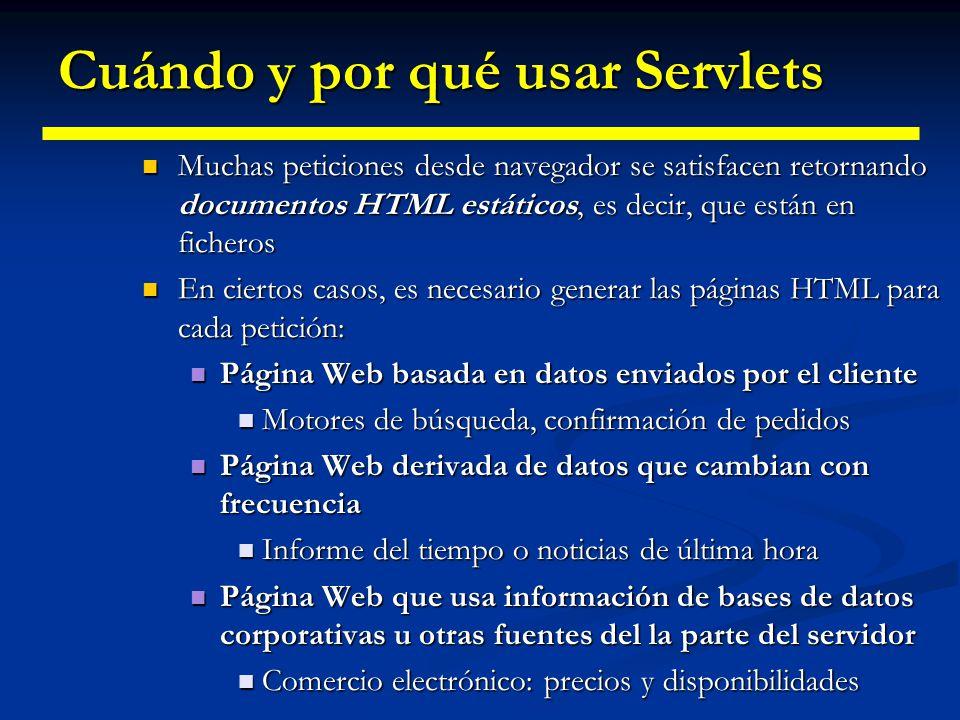 Cuándo y por qué usar Servlets