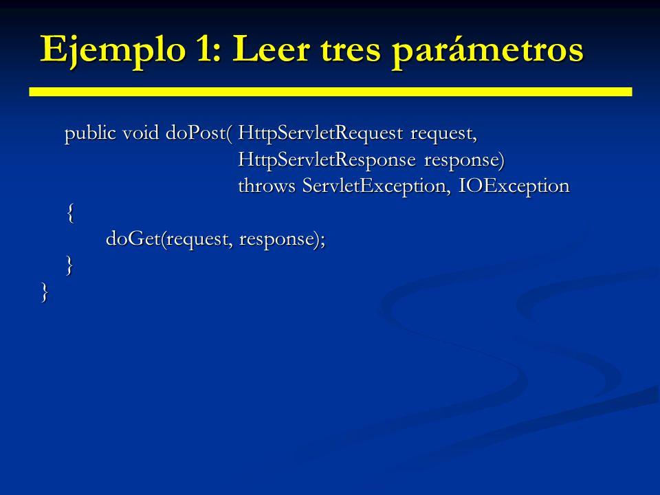 Ejemplo 1: Leer tres parámetros