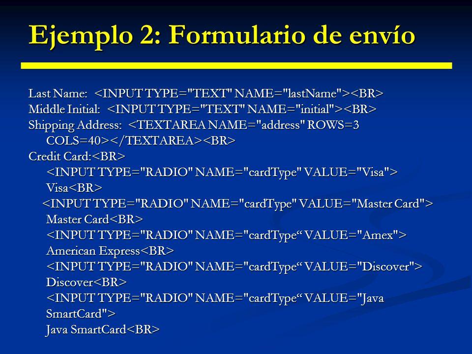 Ejemplo 2: Formulario de envío