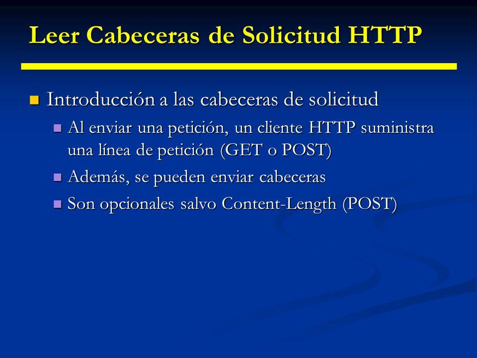 Leer Cabeceras de Solicitud HTTP