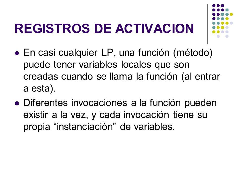 REGISTROS DE ACTIVACION