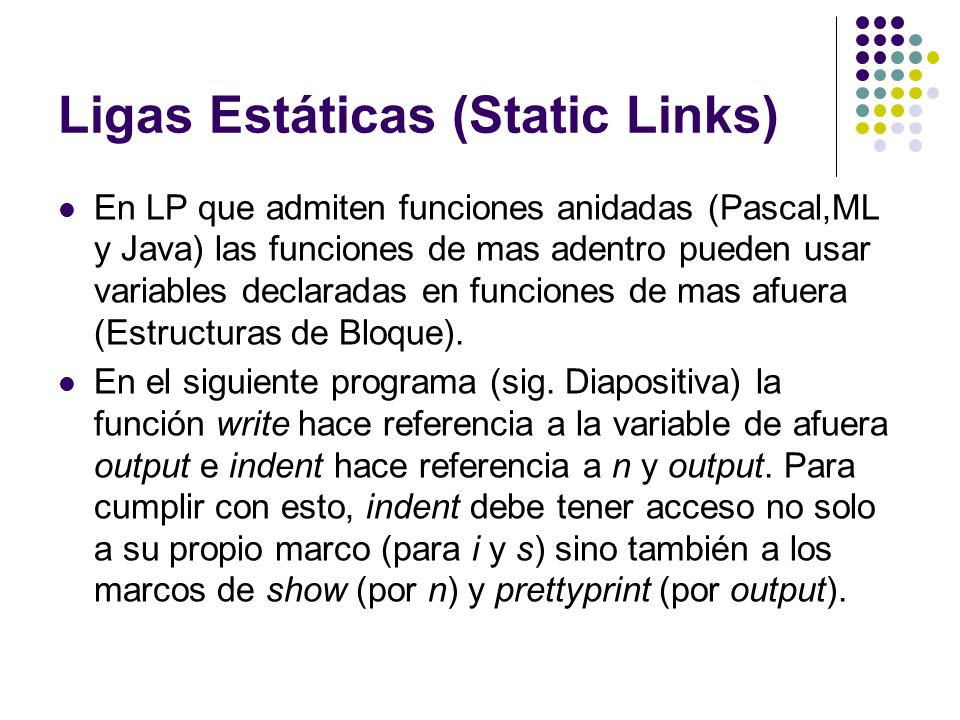 Ligas Estáticas (Static Links)