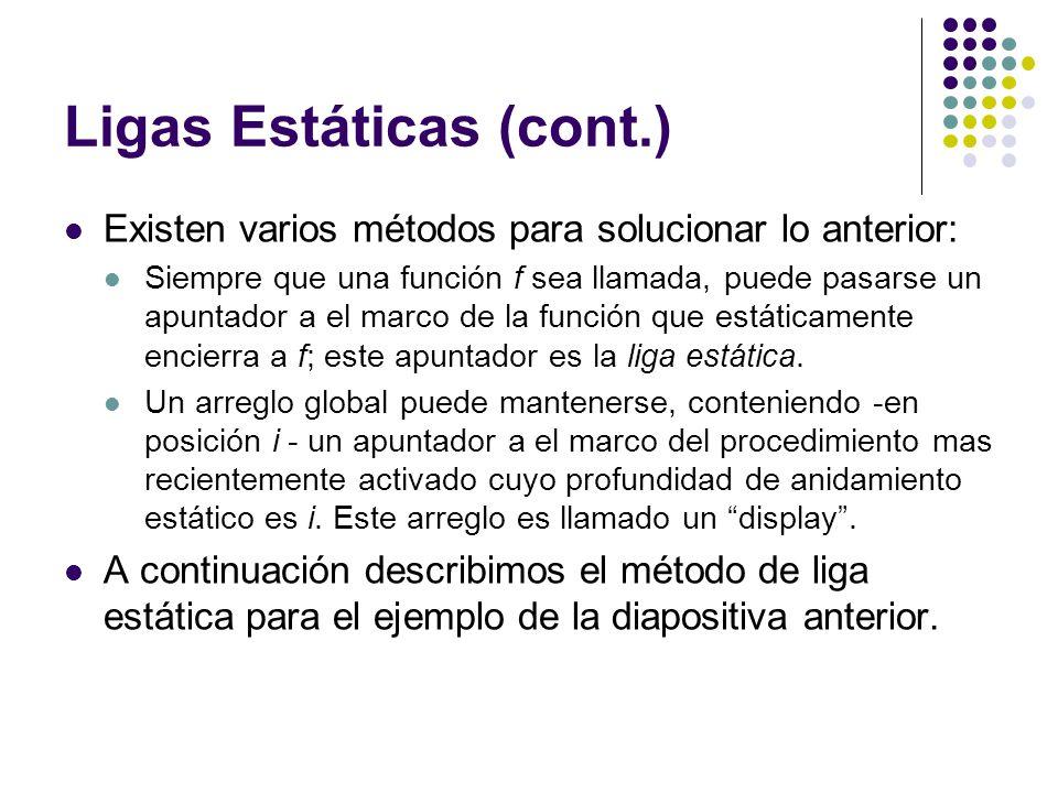 Ligas Estáticas (cont.)