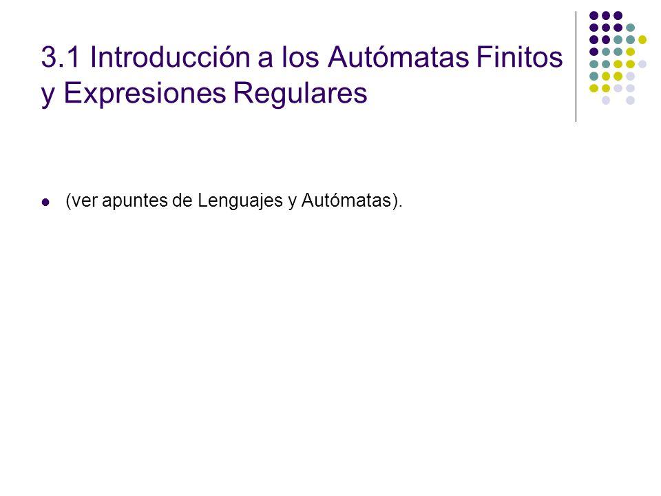 3.1 Introducción a los Autómatas Finitos y Expresiones Regulares