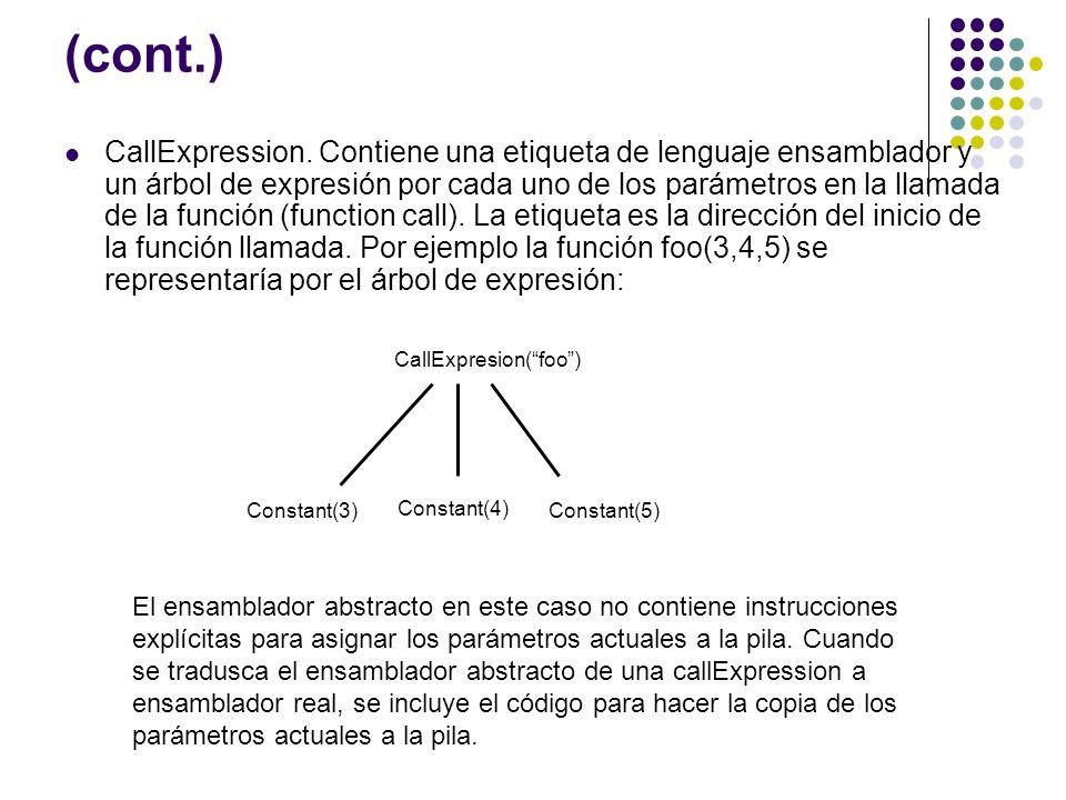 CallExpresion( foo )