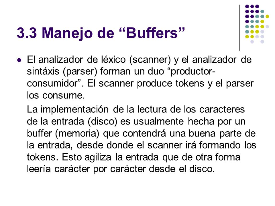 3.3 Manejo de Buffers