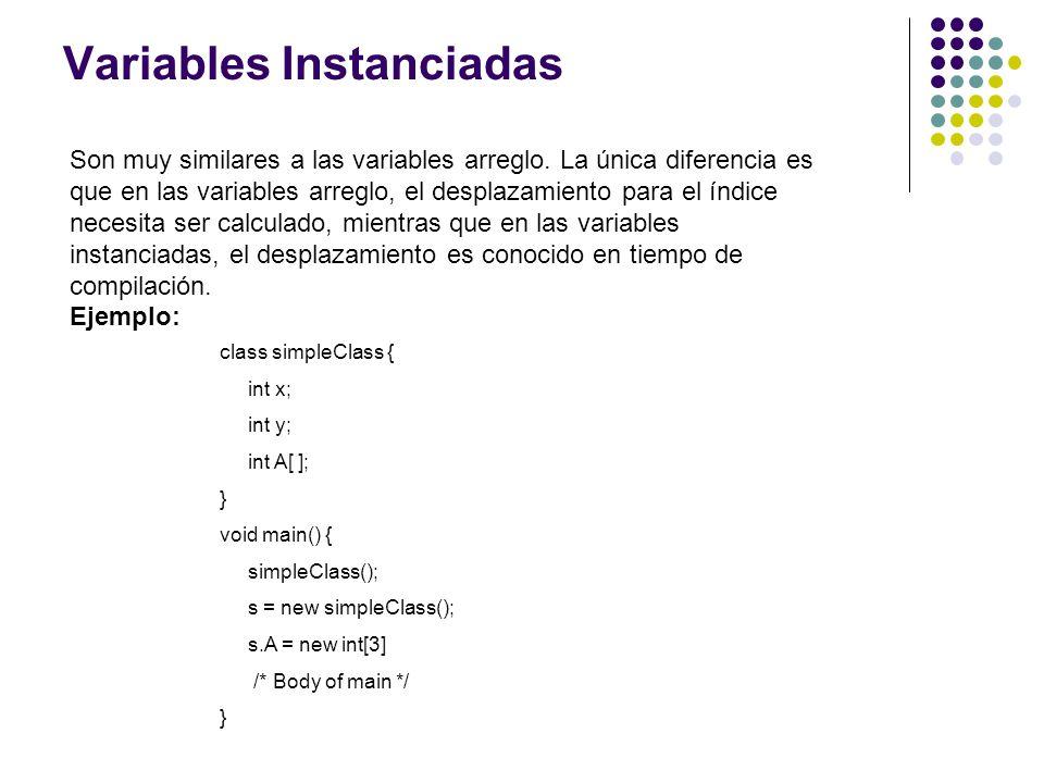 Variables Instanciadas