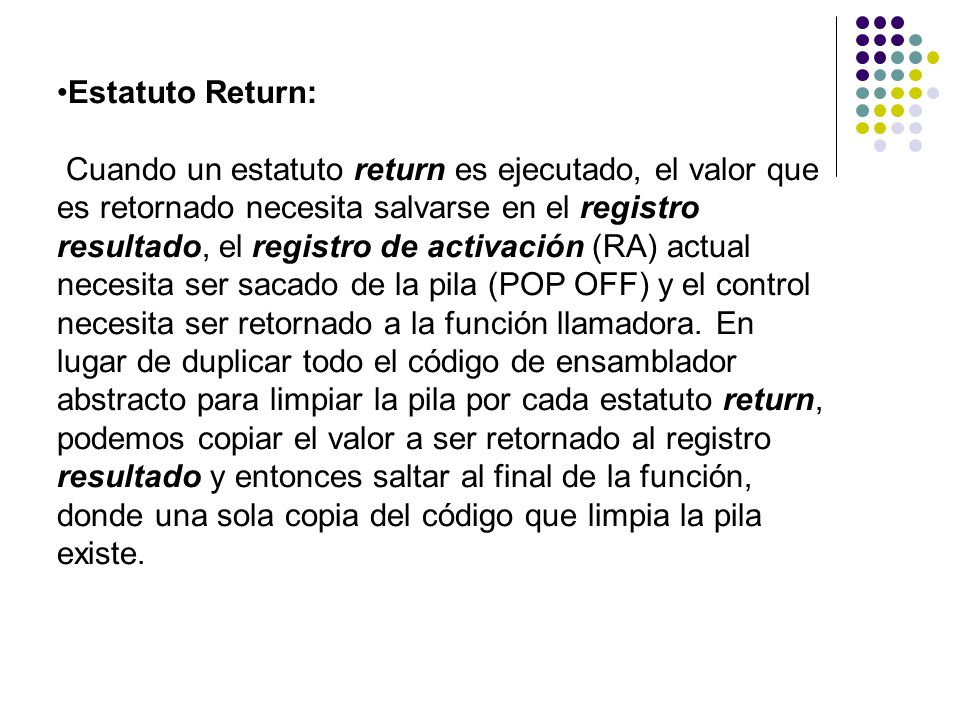 Estatuto Return: