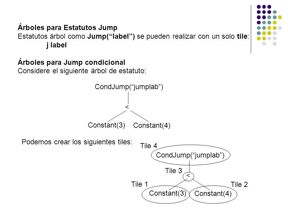 Árboles para Estatutos Jump