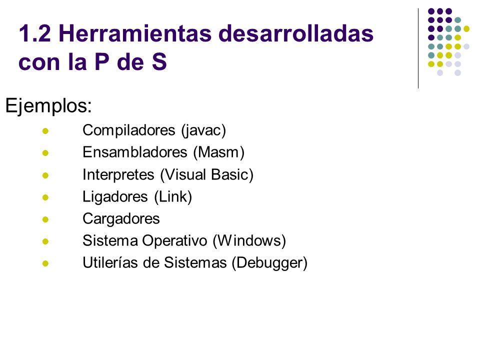 1.2 Herramientas desarrolladas con la P de S