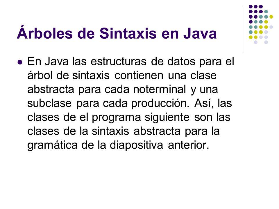 Árboles de Sintaxis en Java