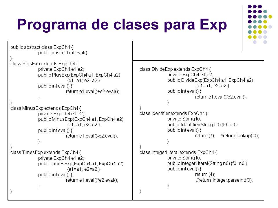 Programa de clases para Exp