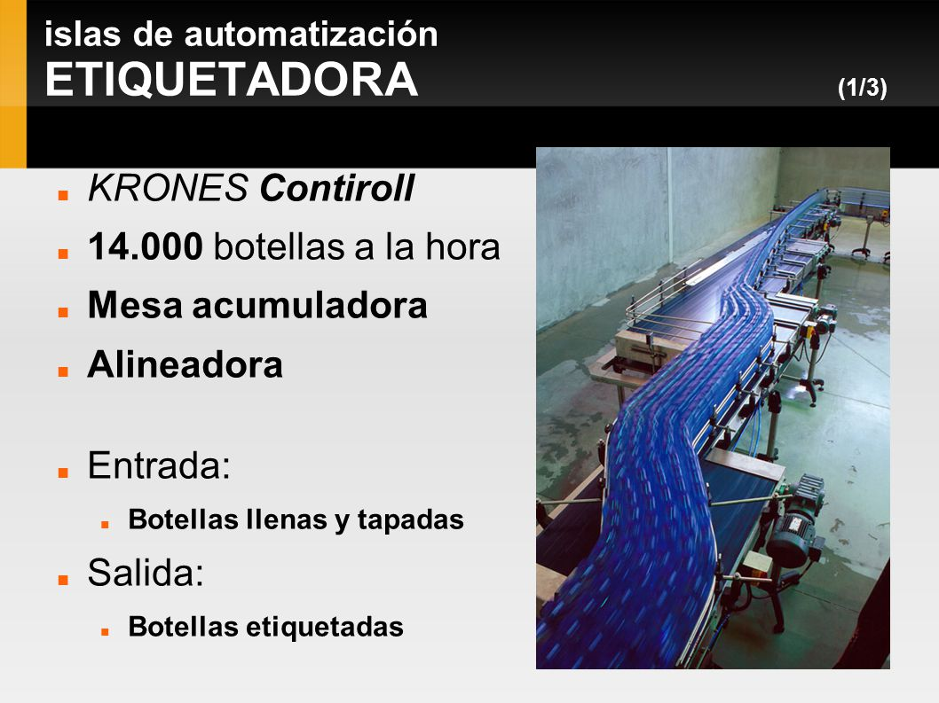 islas de automatización ETIQUETADORA (1/3)