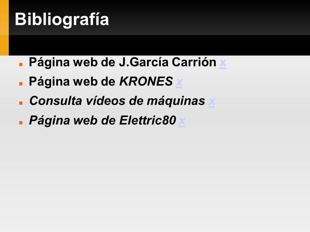 Bibliografía Página web de J.García Carrión x Página web de KRONES x