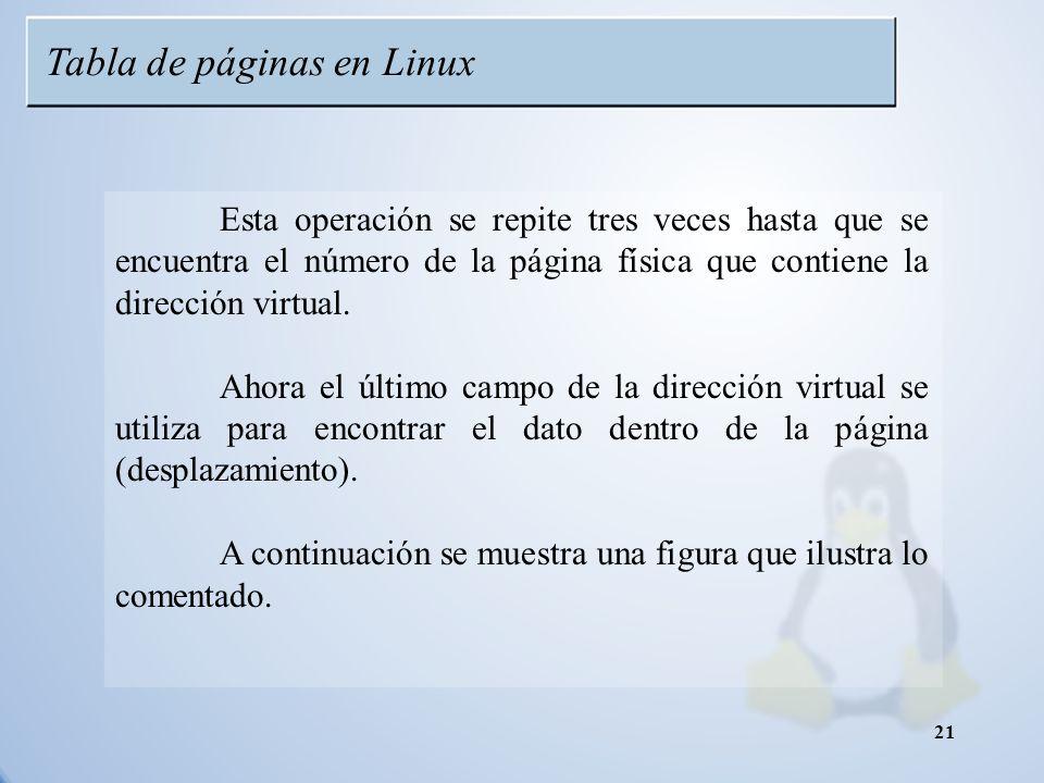Tabla de páginas en Linux