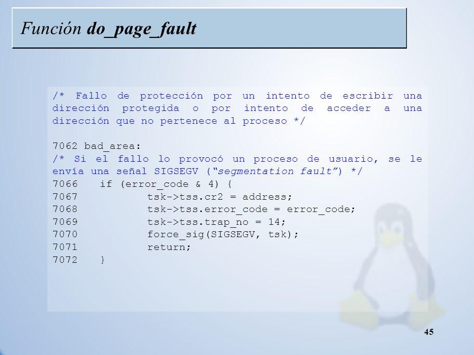 Función do_page_fault