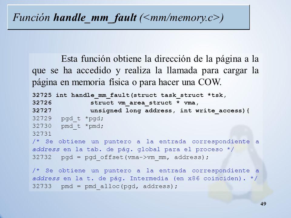 Función handle_mm_fault (<mm/memory.c>)