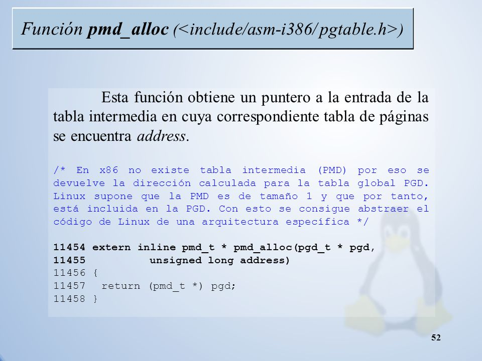 Función pmd_alloc (<include/asm-i386/ pgtable.h>)