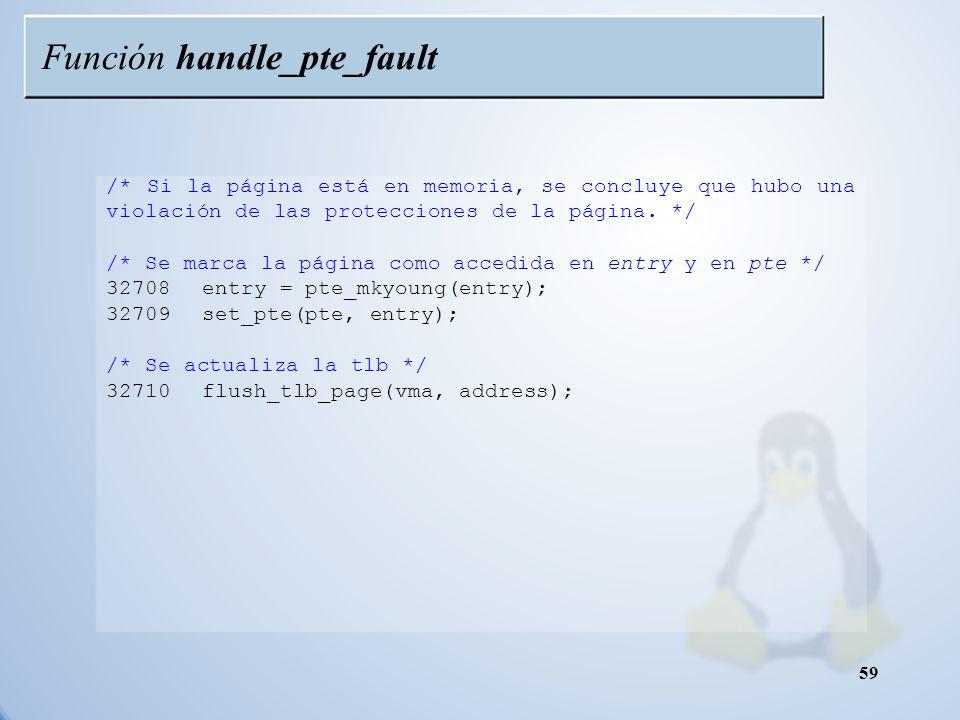 Función handle_pte_fault