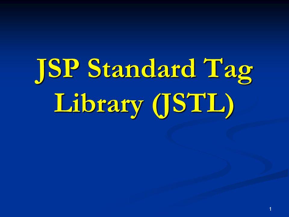 JSP Standard Tag Library (JSTL)