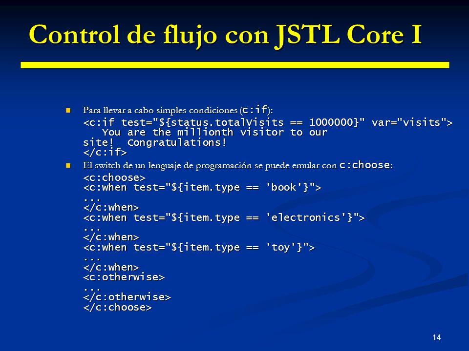 Control de flujo con JSTL Core I
