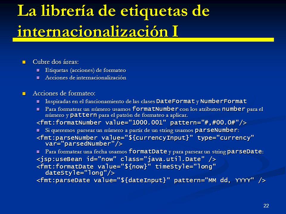 La librería de etiquetas de internacionalización I