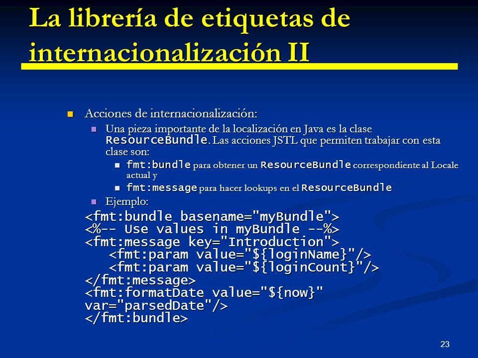 La librería de etiquetas de internacionalización II