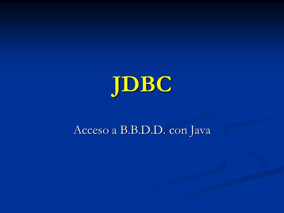 JDBC Acceso a B.B.D.D. con Java