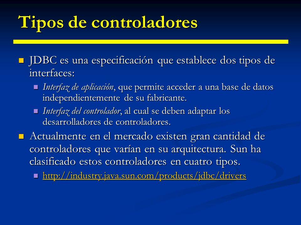 Tipos de controladores