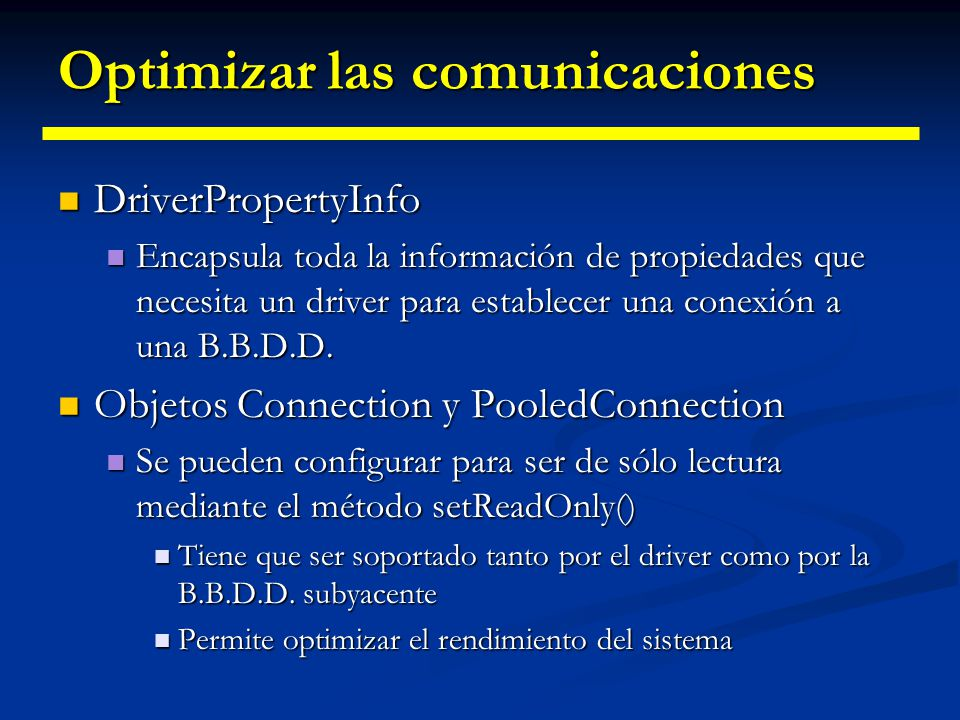 Optimizar las comunicaciones