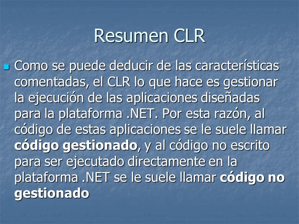 Resumen CLR