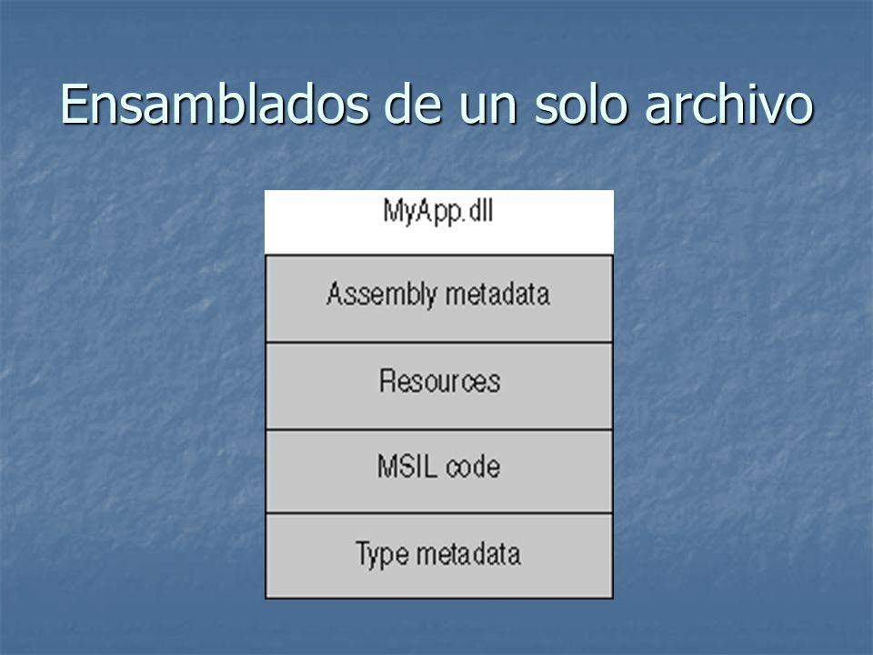 Ensamblados de un solo archivo