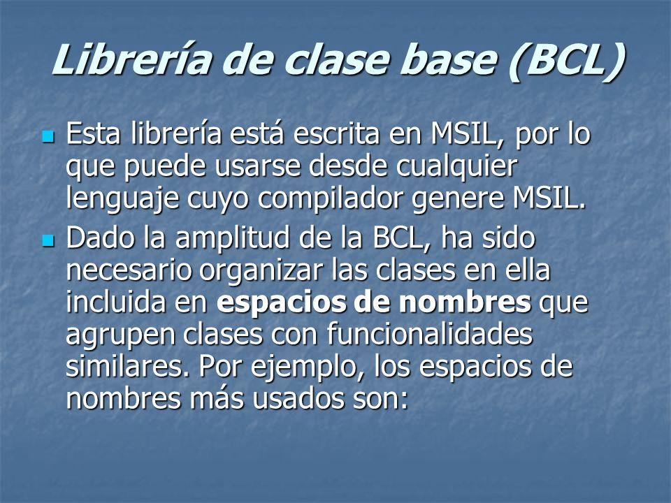 Librería de clase base (BCL)