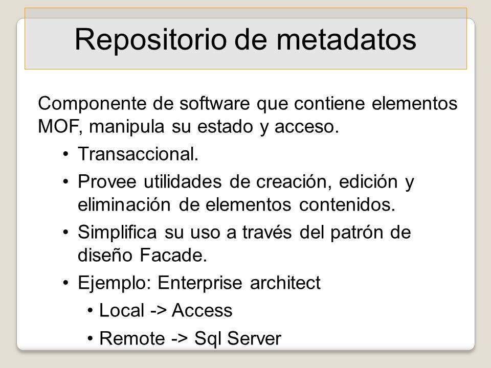 Repositorio de metadatos