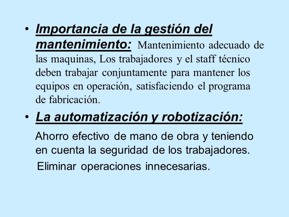 La automatización y robotización: