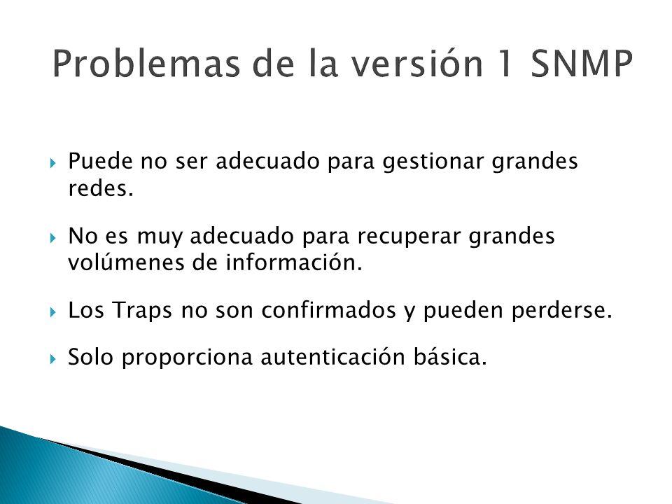 Problemas de la versión 1 SNMP